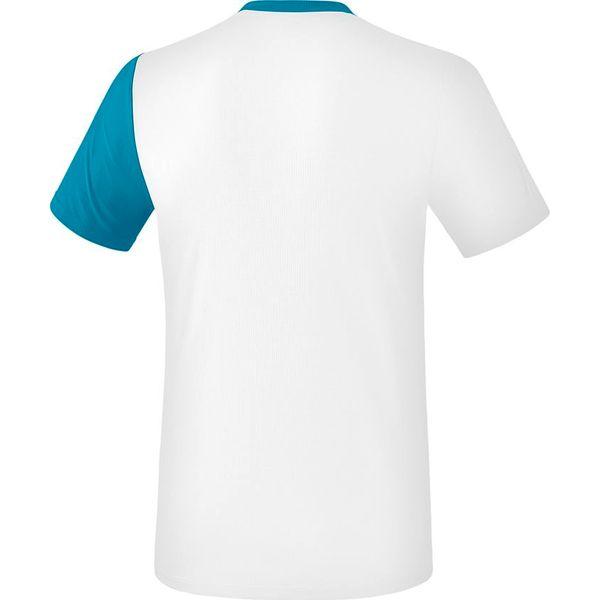 Erima 5-C T-Shirt Kinderen - Wit / Oriental Blue / Colonial Blue