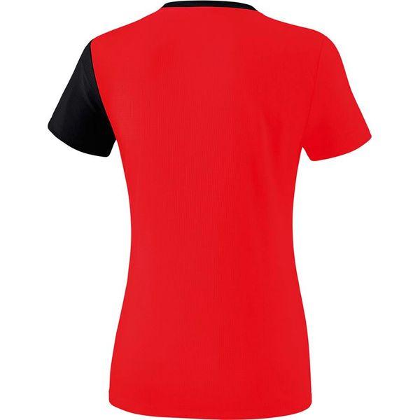 Erima 5-C T-Shirt Dames - Rood / Zwart / Wit