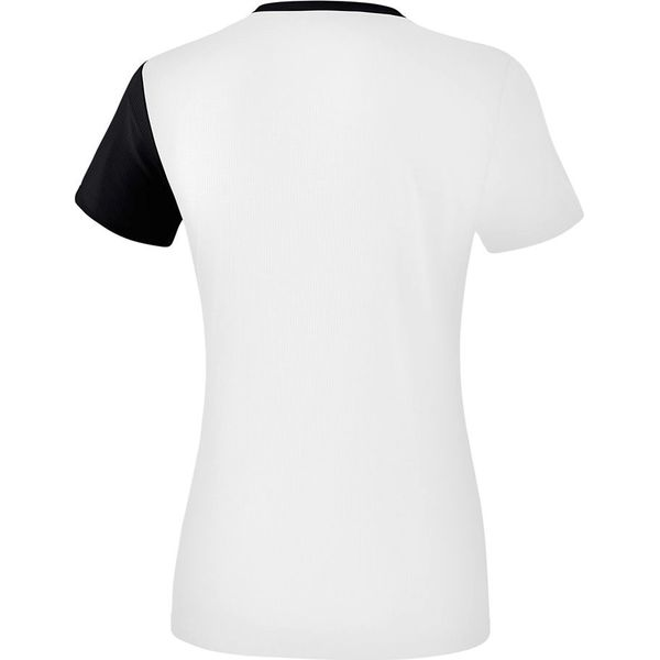 Erima 5-C T-Shirt Dames - Wit / Zwart / Donkergrijs