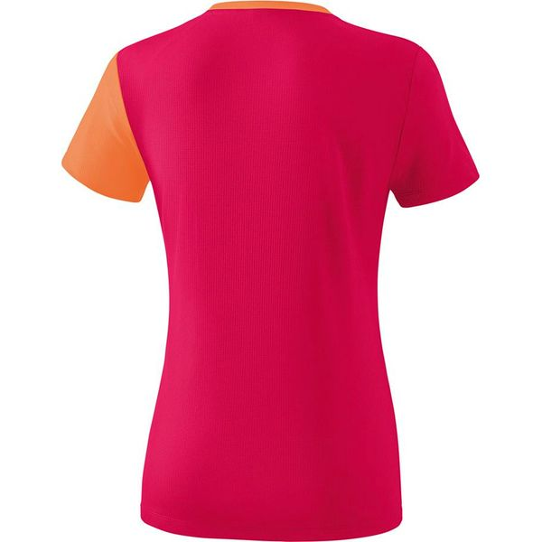 Erima 5-C T-Shirt Dames - Love Rose / Peach / Wit