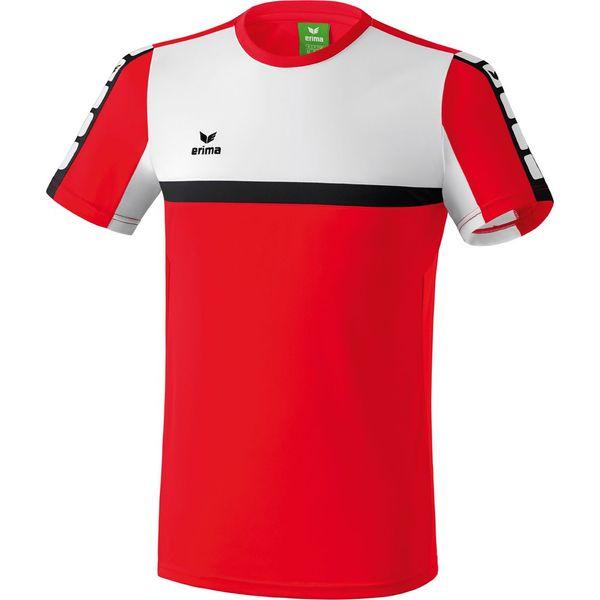 Erima 5-Cubes T-Shirt Heren - Rood / Wit / Zwart