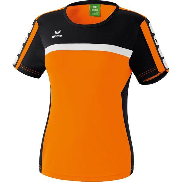 Erima 5-Cubes T-Shirt Dames - Oranje / Zwart / Wit