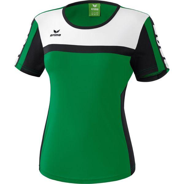 Erima 5-Cubes T-Shirt Dames - Smaragd / Zwart / Wit