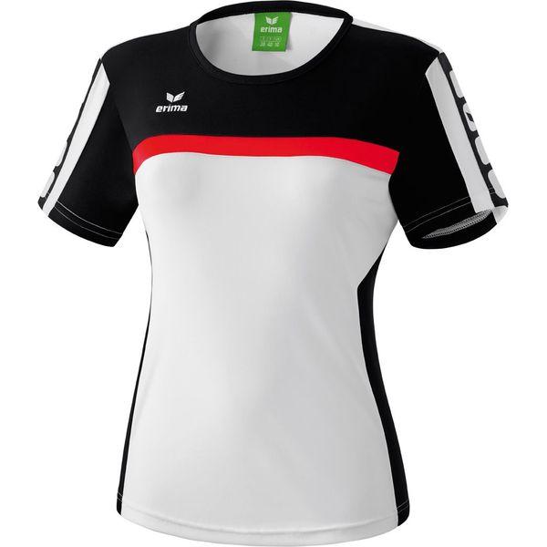 Erima 5-Cubes T-Shirt Dames - Wit / Zwart / Rood