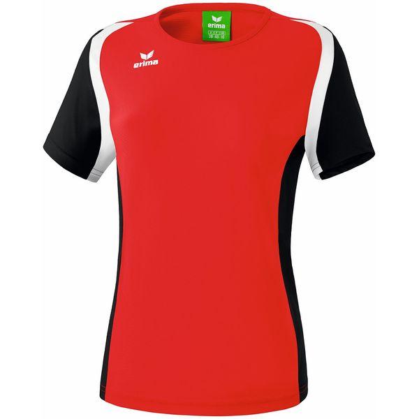 Erima Razor 2.0 T-Shirt Dames - Rood / Zwart / Wit