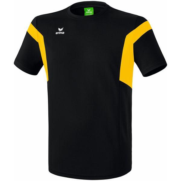 Erima Classic Team T-Shirt Heren - Zwart / Geel