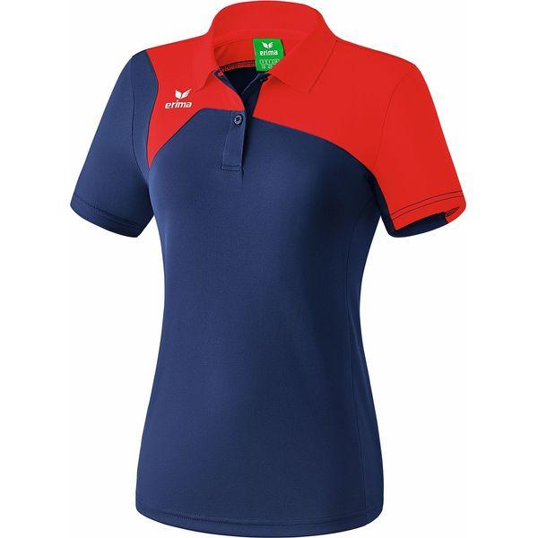Erima Club 1900 2.0 Polo Dames - New Navy / Rood