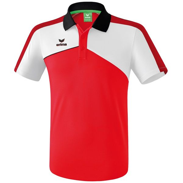 Erima Premium One 2.0 Polo - Rood / Wit / Zwart