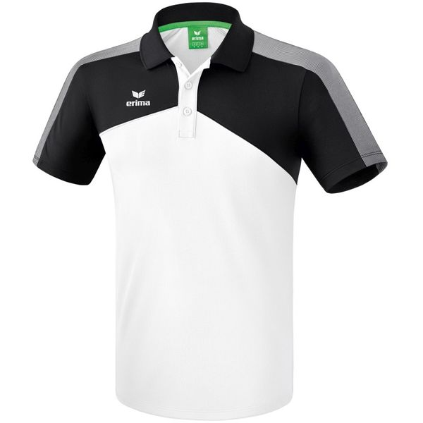 Erima Premium One 2.0 Polo - Wit / Zwart