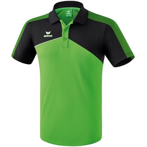Erima Premium One 2.0 Polo - Green / Zwart / Wit