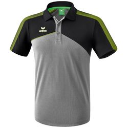 Erima Premium One 2.0 Polo Heren - Grey Melange / Zwart / Lime Pop