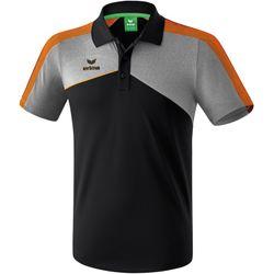 Erima Premium One 2.0 Polo - Zwart / Grey Melange / Neon Oranje