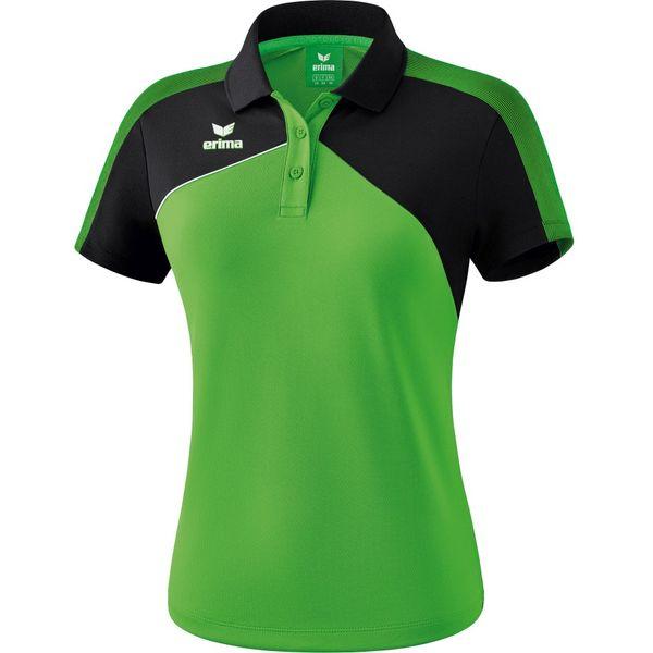 Erima Premium One 2.0 Polo Dames - Green / Zwart / Wit