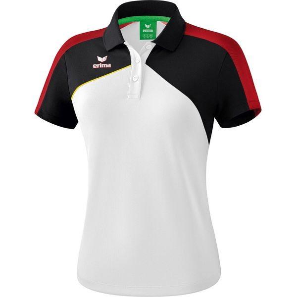 Erima Premium One 2.0 Polo Dames - Wit / Zwart / Rood / Geel