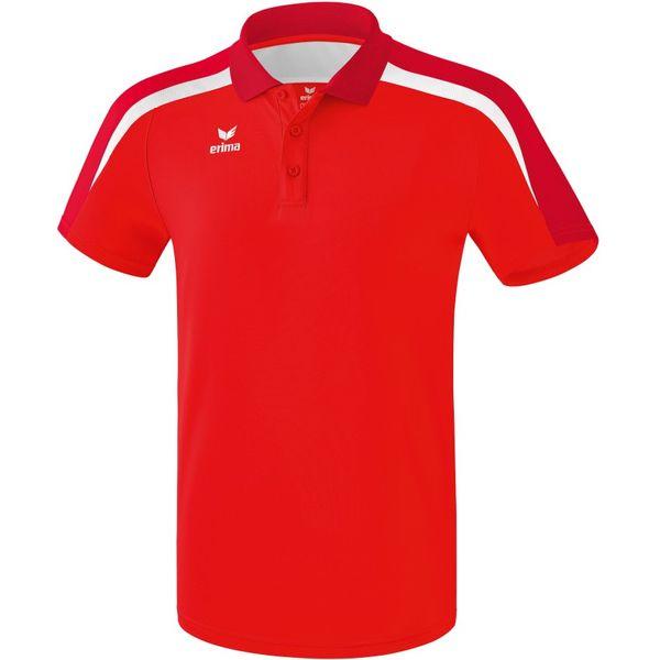Erima Liga 2.0 Polo Kinderen - Rood / Donkerrood / Wit