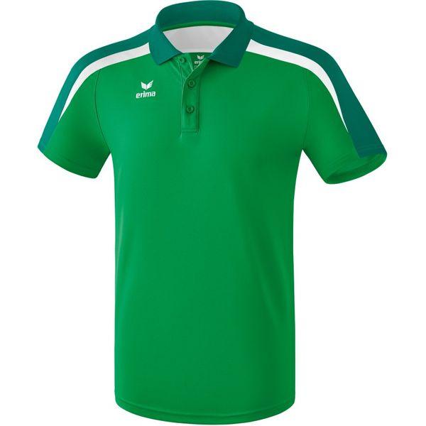 Erima Liga 2.0 Polo Kinderen - Smaragd / Evergreen / Wit