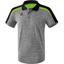 Erima Liga 2.0 Polo Heren - Grey Melange / Zwart / Green Gecko