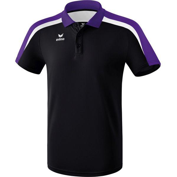 Erima Liga 2.0 Polo Kinderen - Zwart / Donker Violet / Wit