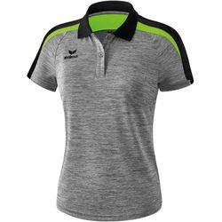 Erima Liga 2.0 Polo Dames - Grey Melange / Zwart / Green Gecko