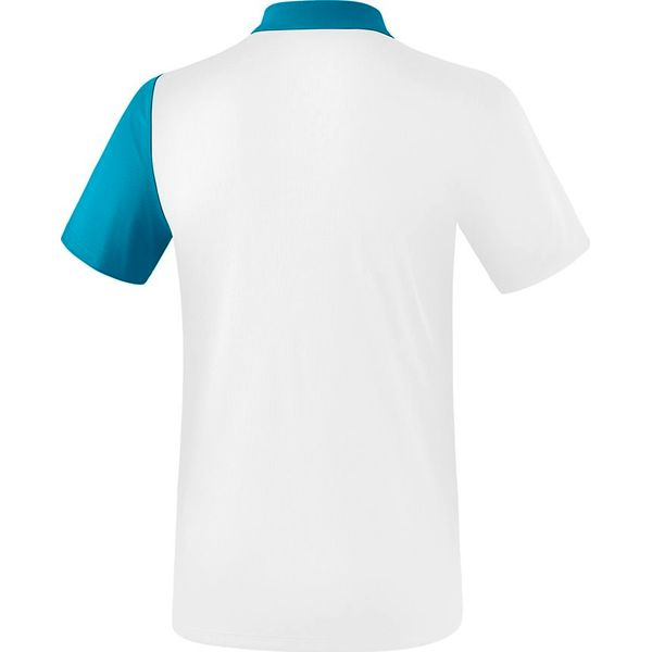 Erima 5-C Polo - Wit / Oriental Blue / Colonial Blue
