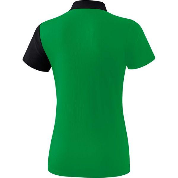 Erima 5-C Polo Dames - Smaragd / Zwart / Wit