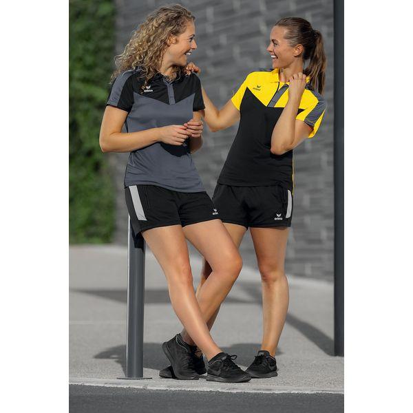 Erima Squad Polo Dames - Zwart / Slate Grey