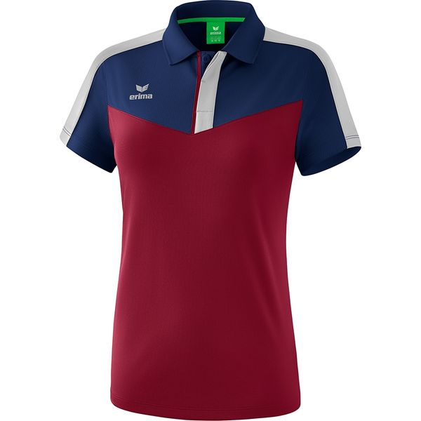 Erima Squad Polo Dames - New Navy / Bordeaux / Silver Grey