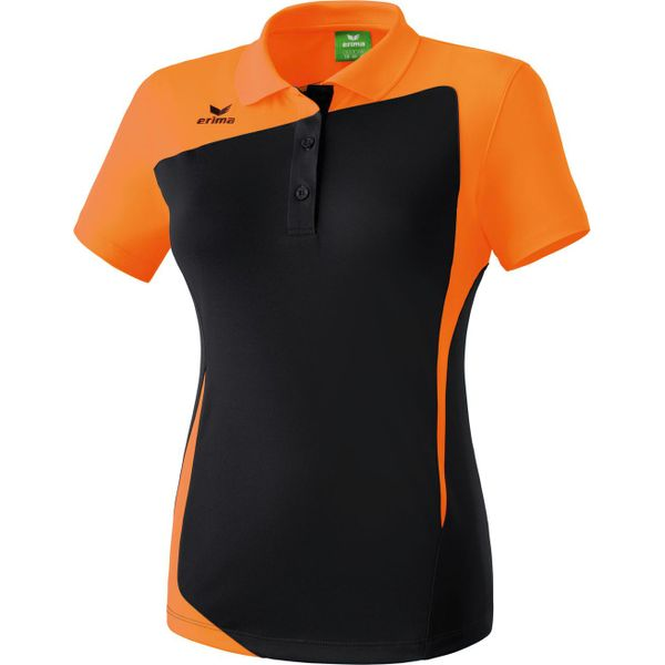 Erima Club 1900 Polo Dames - Zwart / Oranje