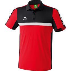 Voorvertoning: Erima 5-Cubes Polo Heren - Rood / Zwart / Wit