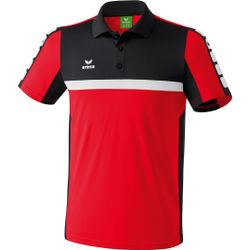 Erima 5-Cubes Polo - Rood / Zwart / Wit