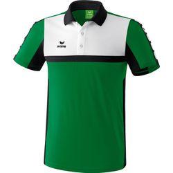 Erima 5-Cubes Polo Heren - Smaragd / Zwart / Wit