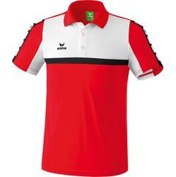 Erima 5-Cubes Polo Hommes - Rouge / Blanc / Noir