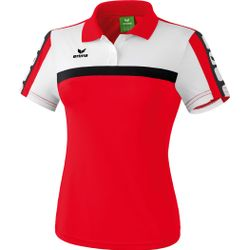 Erima 5-Cubes Polo Dames - Rood / Wit / Zwart