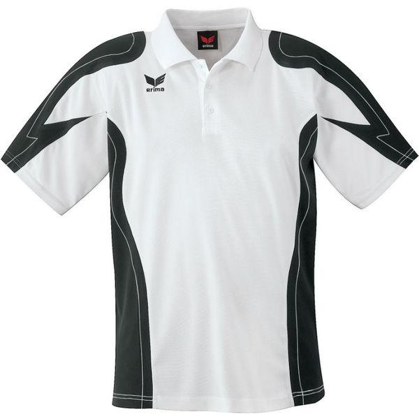 Erima Racing Polo Hommes - Blanc / Noir