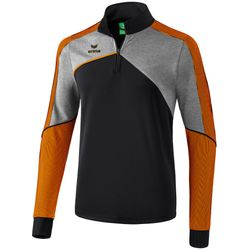 Erima Premium One 2.0 Trainingstrui - Zwart / Grey Melange / Neon Oranje