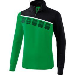Erima 5-C Trainingstop Heren - Smaragd / Zwart / Wit