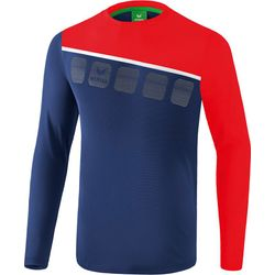 Erima 5-C Longsleeve Heren - New Navy / Rood / Wit