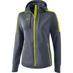 Erima Veste Softshell Femmes - Dark Grey / Lime