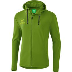 Erima Essential Sweatjack Met Capuchon Heren - Twist Of Lime / Lime Pop