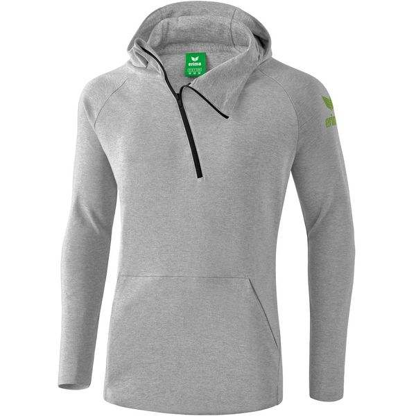 Erima Essential Sweatshirt Met Capuchon Kinderen - Licht Grey Melange / Twist Of Lime