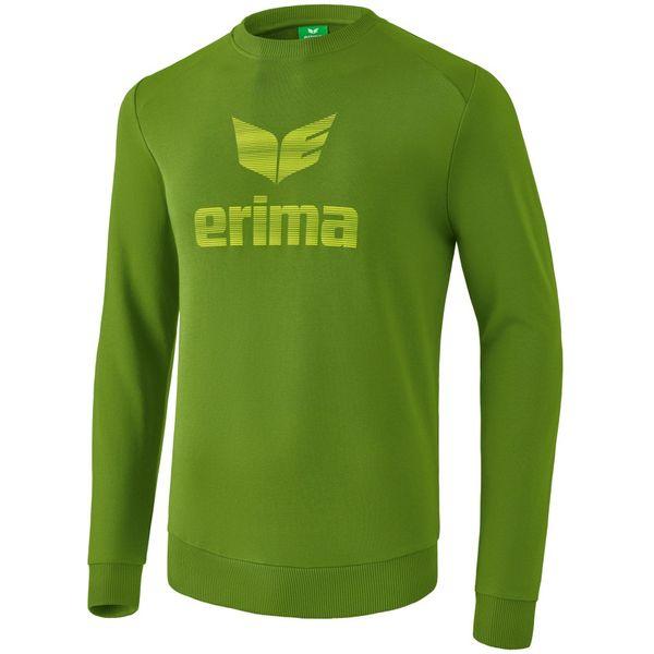 Erima Essential Sweatshirt Kinderen - Twist Of Lime / Lime Pop