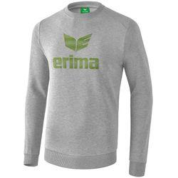 Erima Essential Sweatshirt Heren - Licht Grey Melange / Twist Of Lime