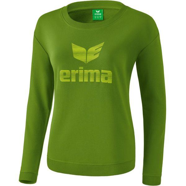 Erima Essential Sweatshirt Dames - Twist Of Lime / Lime Pop