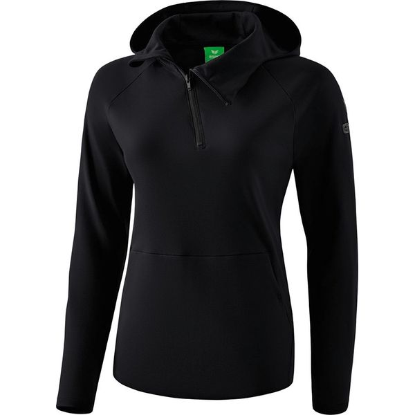 Erima Essential Sweatshirt Met Capuchon Dames - Zwart / Grijs