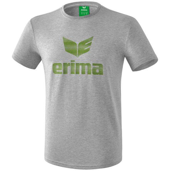 Erima Essential T-Shirt - Licht Grey Melange / Twist Of Lime
