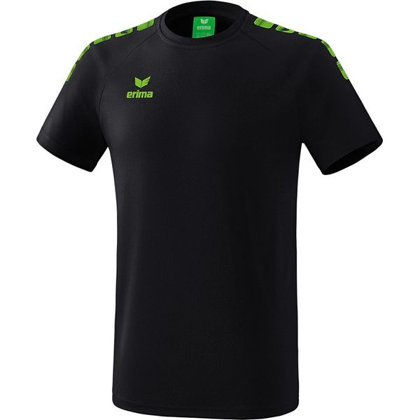 Erima Essential 5-C T-Shirt Kinderen - Zwart / Green Gecco