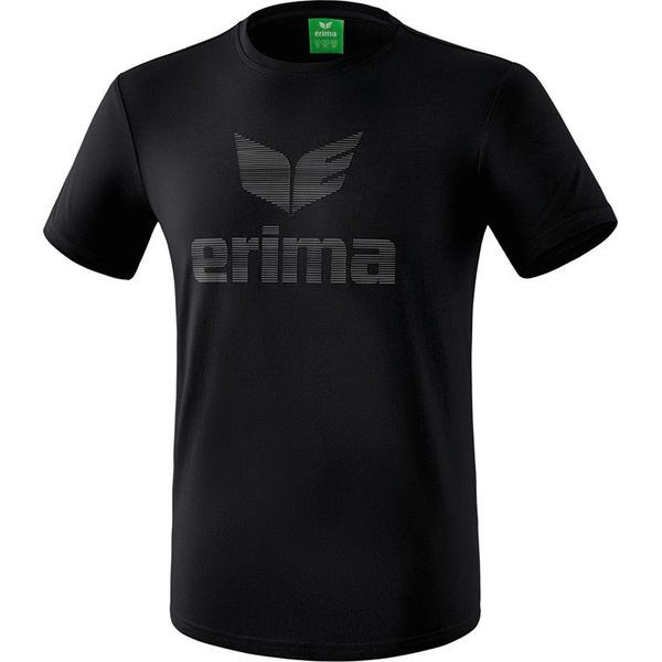 Erima Essential T-Shirt Kinderen - Zwart / Grijs
