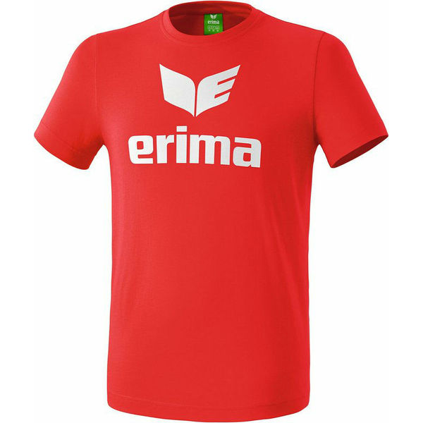 Erima Promo T-Shirt Heren - Rood / Wit