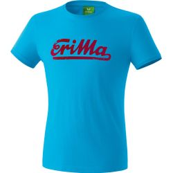 Erima Retro T-Shirt - Curacao / Ruby