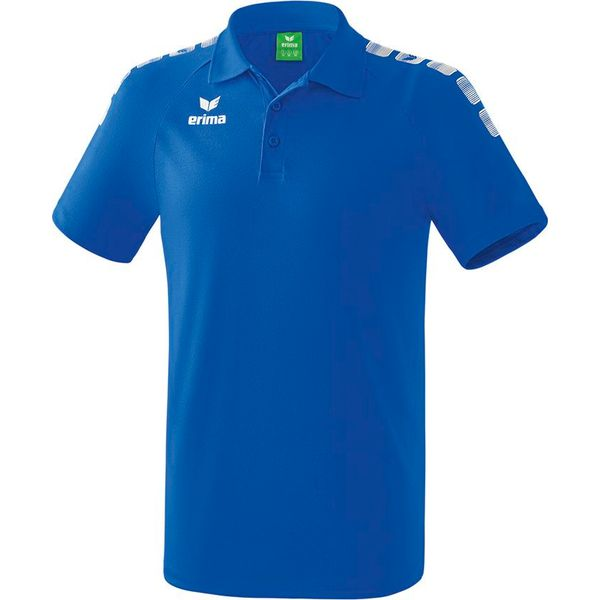 Erima Essential 5-C Polo Kinderen - Wit / New Royal